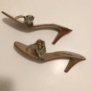 Steve Madden Blaynne Snake Print Sandal Heels